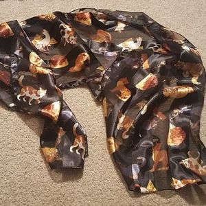 Cat lover scarf